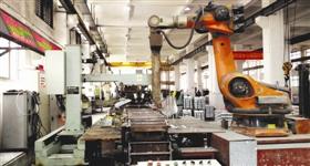 国内首条工业机器人在线浇铸生产线在石狮正式投产