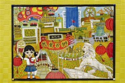人情跃然纸上——既有色彩斑斓的儿童画,展现乡村庙宇里的信仰文化