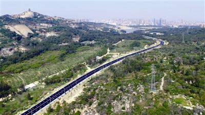 """峡谷旅游路的通车,缩短了石狮城区与山,海的距离,开启了""""山海城"""""""