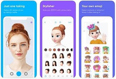 社交网络头像应用程序,网友们可以通过编辑卡通人物的眼睛,鼻子,嘴唇